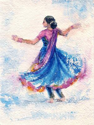 Painting - Kathak Dancer by Asha Sudhaker Shenoy