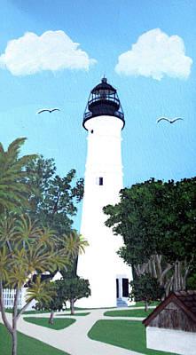 Painting - Key West Lighthouse by Frederic Kohli