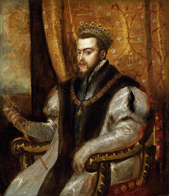 Chair Painting - King Philip II Of Spain by Titian