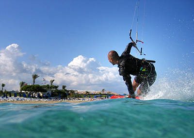 Photograph - Kitesurfing by Stelios Kleanthous