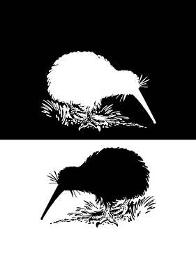 Kiwi Bird Art Print by Mordax Furittus