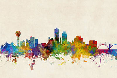 Knoxville Digital Art - Knoxville Tennessee Skyline by Michael Tompsett