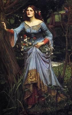 Painting -  Ophelia by John William Waterhouse