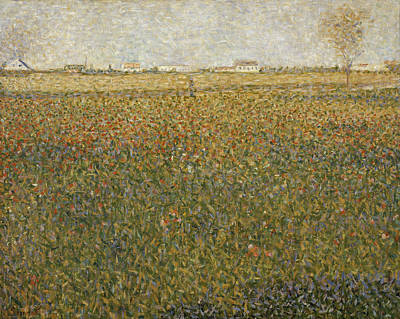 Georges Seurat Painting - La Luzerne. Saint-denis by Georges Seurat