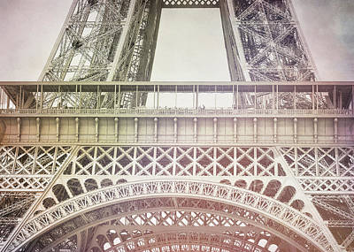 Photograph - La Tour Eiffel Watercolor by JAMART Photography