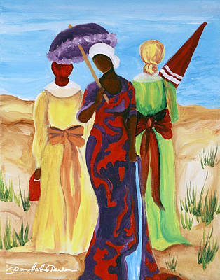 Painting - 3 Ladies by Diane Britton Dunham
