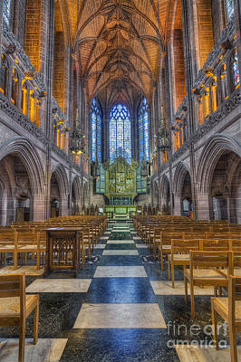 Stone Buildings Digital Art - Lady Chapel by Ian Mitchell