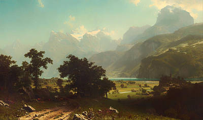 Lake Lucerne Art Print by Mountain Dreams