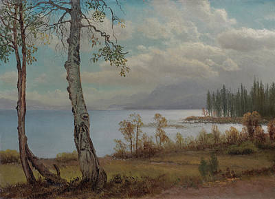 Lake Tahoe  Art Print by Albert Bierstadt