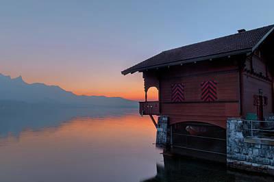 Boat House Photograph - Lake Thun - Switzerland by Joana Kruse