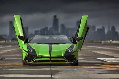 Photograph - #lamborghini #aventadorsv #superveloce #roadster #print by ItzKirb Photography