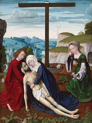 Wept Painting - Lamentation by Gerard David