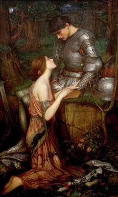 Warrior Woman Wall Art - Painting - Lamia by John William Waterhouse