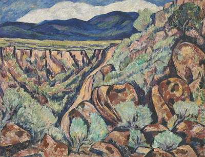 Landscape, New Mexico Art Print