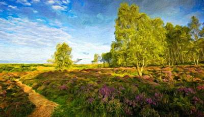 Landscape Painting - Landscape On Nature by Margaret J Rocha