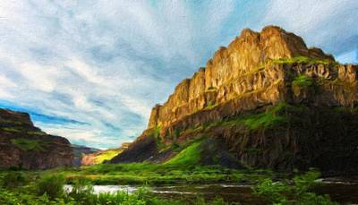 Nature Painting - Landscape Pictures Nature by Margaret J Rocha