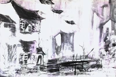 The Verve Painting - Landscape Pop Arts by J j Jin