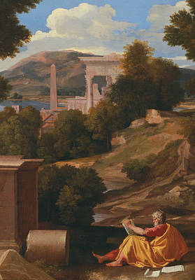 Painting - Landscape With Saint John On Patmos by Nicolas Poussin