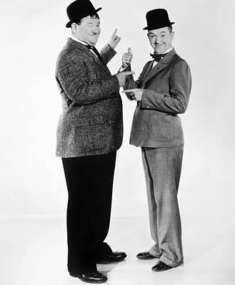 Movie Star Photograph - Laurel And Hardy by Granger
