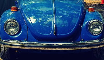 Photograph - Vintage Blue Beetle by Laurie Perry
