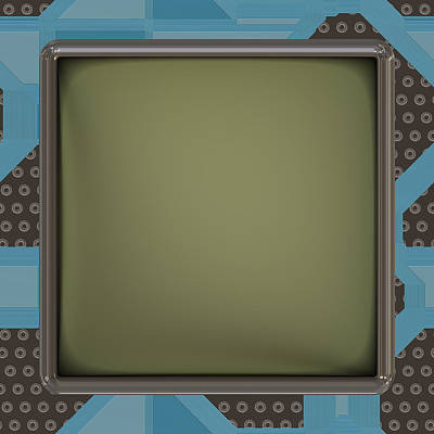 Processor Digital Art - Lcd Screen On Circuit Generated Texture by Miroslav Nemecek