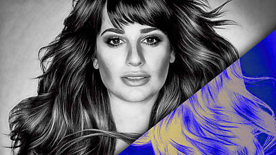Screaming Mixed Media - Lea Michele Collection by Marvin Blaine