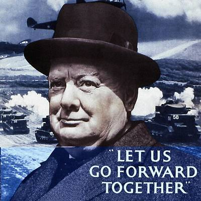 Let Us Go Forward Together Print by English School