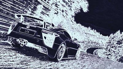 Digital Art - Lexus Lfa Nurburgring Edition by PixBreak Art