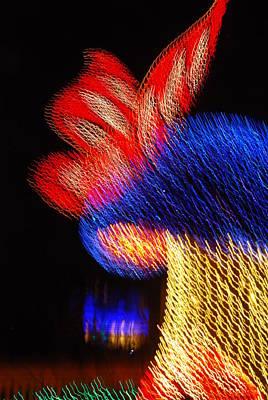 Photograph - Lighted Shroom by Rob Hans