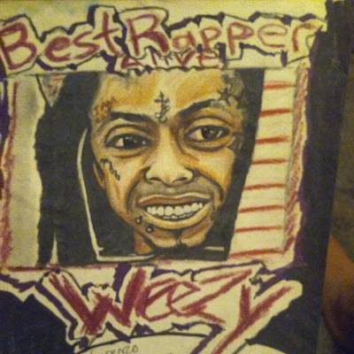 Hip Drawing - Lil Wayne by Lorenzo Flynn