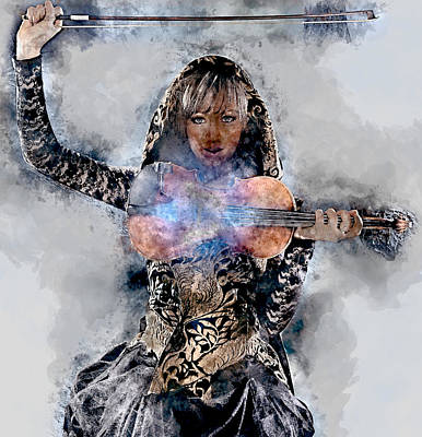 Violin Mixed Media - Lindsey Stirling by Marvin Blaine