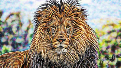 Lion Art Print by Marvin Blaine