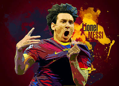 Messi Digital Art - Lionel Messi by Semih Yurdabak