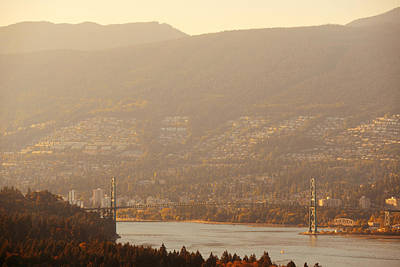 Photograph - Lions Gate Bridge by Songquan Deng