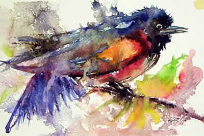 Little Birds Painting - Little Bird by Kovacs Anna Brigitta
