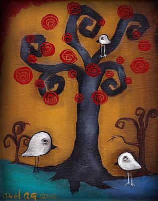 Painting - 3 Little Birds by  Abril Andrade Griffith