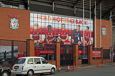 Liverpool Uk January 8th 2016. The Kop Entrance To Liverpool Foo Art Print