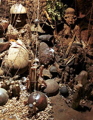 Photograph - Lobi Shrine 1999 by Huib Blom