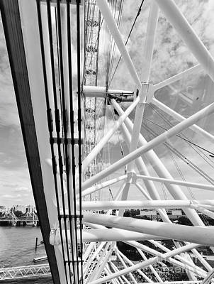 British Photograph - London Eye Construction, Mechanism As Seen From The Capsule. London, Uk by Michal Bednarek