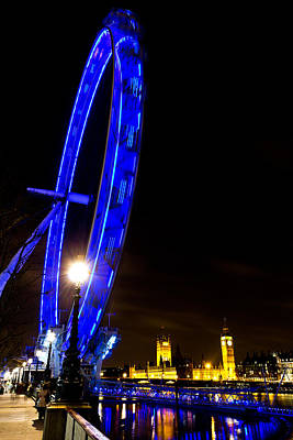 London Eye Night View Art Print