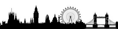 Historical Bridge Digital Art - London Skyline by Michal Boubin