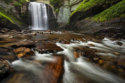 Pisgah Photograph - Looking Glass Falls by Andrew Soundarajan