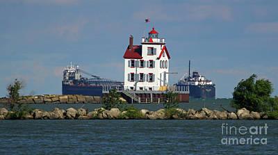 Photograph - Lorain Lighthouse by Debbie Parker