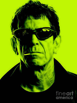 Singer Mixed Media - Lou Reed Collection by Marvin Blaine