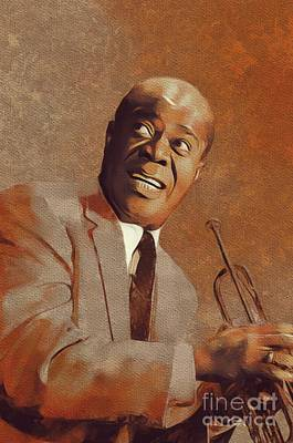Rock And Roll Royalty-Free and Rights-Managed Images - Louis Armstrong, Music Legend by Mary Bassett