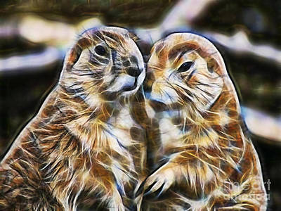 Groundhog Mixed Media - Love by Marvin Blaine