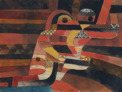 Drawing - Lovers by Paul Klee
