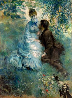Sitting Painting - Lovers by Pierre-Auguste Renoir