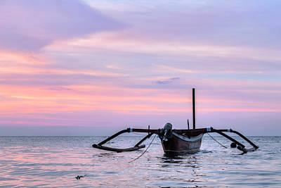 Canoes Photograph - Lovina - Bali by Joana Kruse
