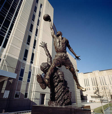 Michael Jordan Photograph - Low Angle View Of A Statue In Front by Panoramic Images